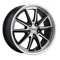 Wheels Advanti M7507 R15 W6.5 PCD4x100 ET38 DIA73.1 Silver+Black